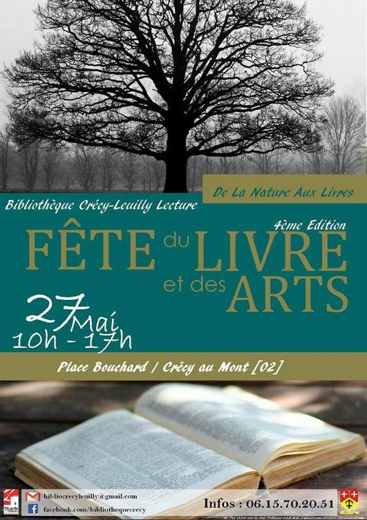 Fête du livre et des arts Crécy au Mont 27 mai